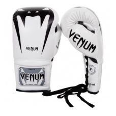 Боксерские перчатки  VENUM GIANT 3.0 BOXING GLOVES - NAPPA LEATHER - WITH LACES - WHITE